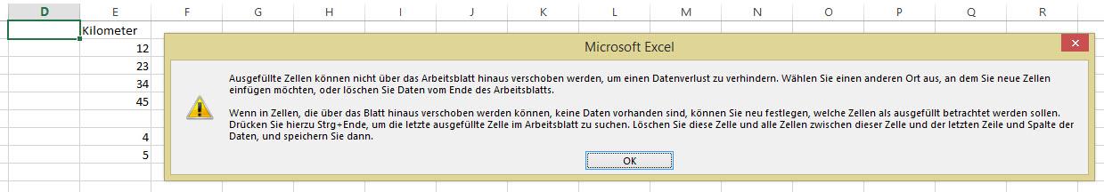 einfügen | Excel nervt ...