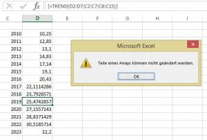 Eine Array-Formel (Matrixformel)