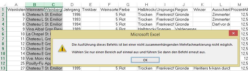 Excel Arbeitsblatt Ausschneiden : Mehrfachmarkierung excel nervt