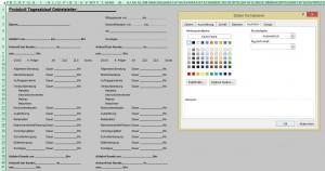 Die Lösung: Man muss die Hintergrundfarbe weiß formatieren ...