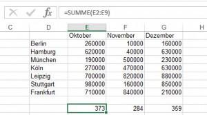 Excel will nicht mehr (richtig) rechnen.