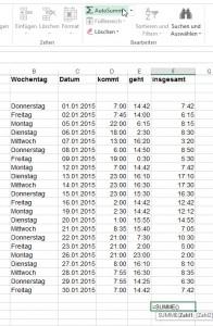 Excel weigert sich Stunden zu summieren.