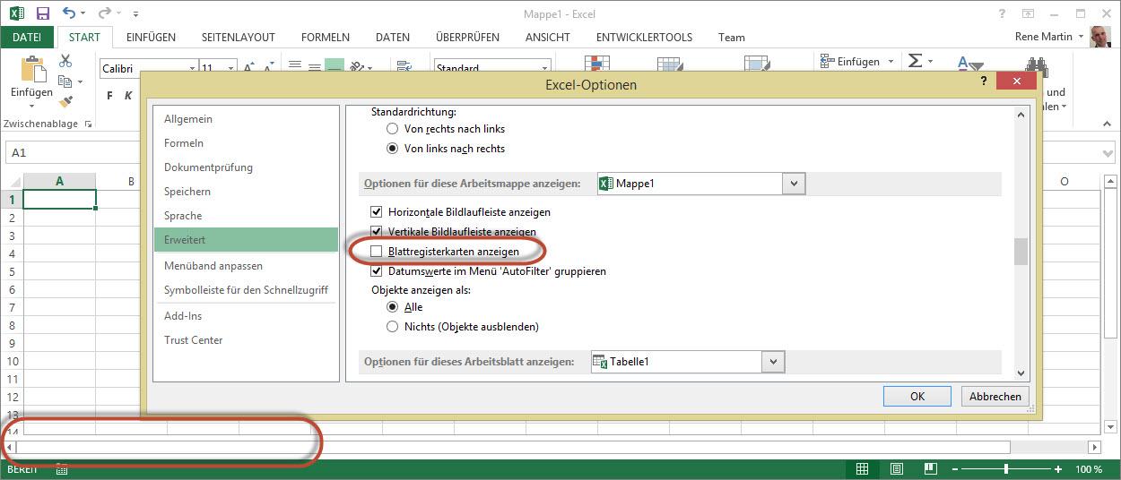 Registerkarten verschwunden | Excel nervt ...
