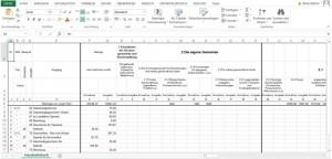 Die Linie in Excel