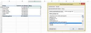 Rang in Pivot in Excel 2013