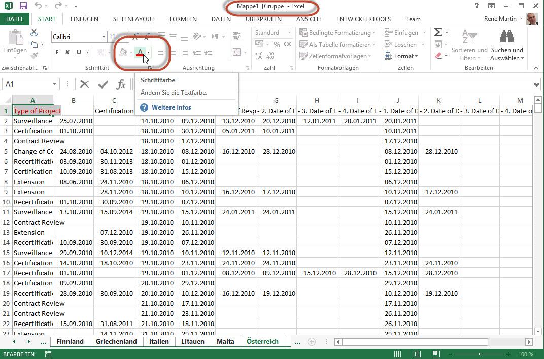 Tabellenblatt   Excel nervt ...