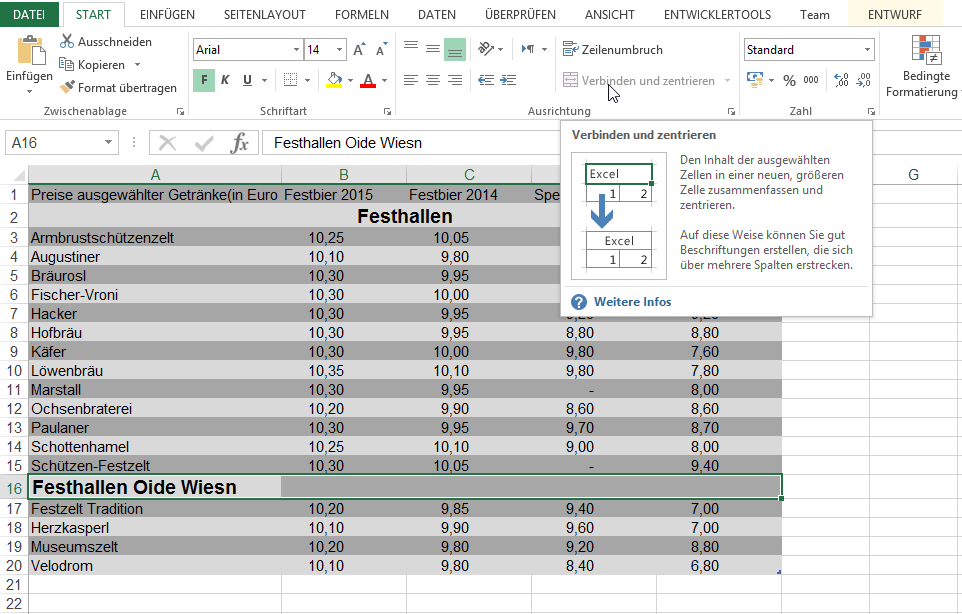 Tabelle | Excel nervt ...