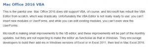 Ein Kommentar zu Excel 2016 auf Mac.