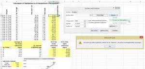 Excel findet nichts.