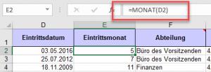 Liste mit Formel(n)