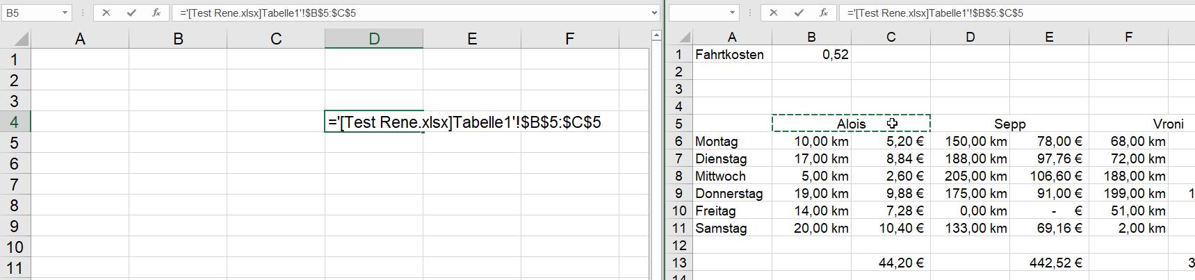 verbundene Zellen | Excel nervt ...