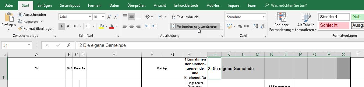 markieren | Excel nervt ...