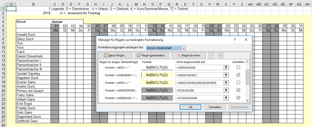 Excel bild in den hintergrund ausgegraut