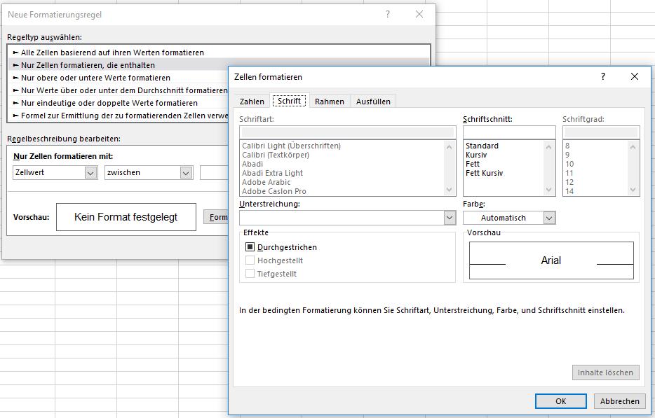 bedingte Formatierung   Excel nervt