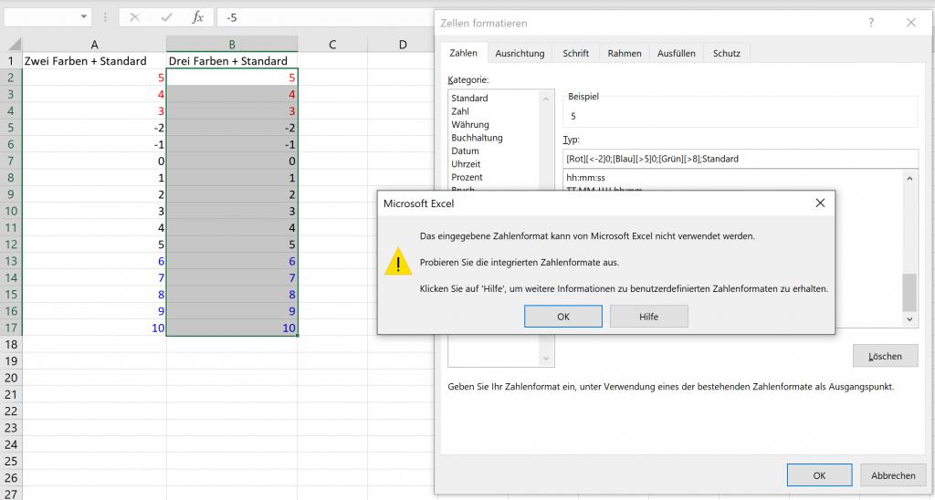 Excel markiert immer mehrere zellen